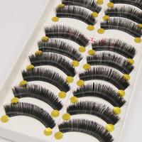 Handmade 100 false eyelashes eyelash bushy cotton box eyelash