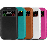 New Case for zopo zp100 View Window Pouch Mobile Phone PU Leather Bag Cover Bags Cases