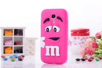 Cute Candy Color Cartoon MM soft Silicon Back Cover Colorful Lovely mm Case For samsung Galaxy SIV S4 Mini i9190 i9192 1pcs
