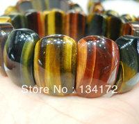 free shipping wholesale natural jewellry polishing tiger eye beads chain bracelet/jewelry bangle/women stlye