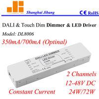 Free Shipping Dali Dimmers & 220V Touch dim led Driver, DALI controler, 2channels/12V-48V/output optional  pn::DL8006