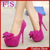Party Fashion Women's High Heels Pumps For Women Casual Dress Sexy High Platform Sweet Bowtie Round Toe Thin Heels Pumps AL008