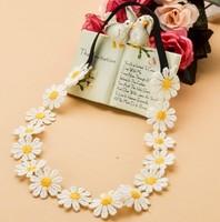 Wholesale retail charming Fshion sunflower lace handmade romantic Elastic headband hari accessories for adult