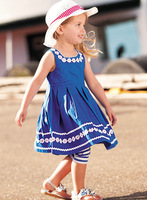 5pcs/lot 2013 New baby girl sunflower girl dress 100% cotton girl birthday party princess dresses children clothing