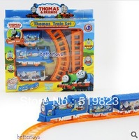 Thomas train track tomas electric train set Baby children's educational toys Small electric splicing rail train set
