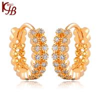 2014  Full Rhinestone Ear Buckle Delicate Gold Filled Jewelry  Women Earrings Vintage
