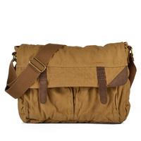 Hot canvas + with leather messenger bag restoring ancient ways in Europe and the single shoulder inclined shoulder bag handbag