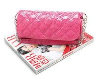 Women's handbag candy color small bags women's plaid chain messenger bag evening bag #1069