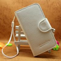 PU Leather Wallet bag Flip cover Case for alcatel one touch ot-4010a ot 4010 mobile phone case soft case insdie,7colors,1pcs