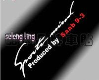free shipping 2pcs Car stickers car headlight reflector lamp eyebrow stickers - Saab Saab 9-3 dedicated