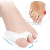 NEW Gel Silicone Bunion Corrector hallux valgus big bone Toe corrector toe Straightener spreader 2pieces= 1 pairs Free shipping
