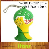 Full Capacity 8GB 16GB 32GB USB Flash Drive External Storage 2014 World Cup Memory Stick Good For Gift