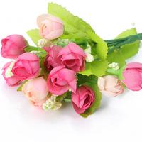 Romantic Rose Mini Artificial Silk Flowers Faux Rose Wedding Home Graden Decor Free ship