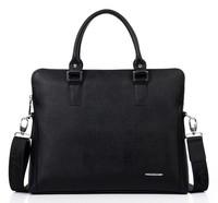 New 2014 Fashion Men's Messenger Genuine Leather Briefcase High Quality Business Computer Handbag Travel Work Gentleman Bags