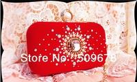 free shipping Set auger hand bag luxurious nobility Austrian rhinestones suede bag bride bag handbag dinner ring