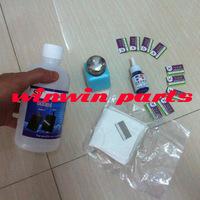 2014 hot sale !!! 1 pc 500ml uv glue loca remover + 1pc 37g debonder + 10pc blades + 1pc press style bottle + 1 bag clean cloth