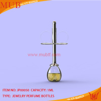 free shipping customed new year cross necklace pendant with1ml refillable perfume glass bottle pendant-10pcs/lot