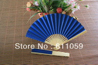 Free shipping 90pcs/lot colorful paper folding fan holiday gift with 10colors for choice