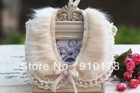 faux fur pearls lace false collar necklace customized fake collar fashion costume women accessory FC051