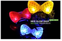 Bow card / light emitting hairpin / light-emitting horn / light-emitting  luminous toys ,toys,glow in the dark party supplies