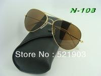 Wholesale - 2014 Super Cool Men Women  Sunglasses Driving Aviator Sun Glasses +Box+Cloth Free Shipping