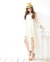 3a118798 irregular chiffon dress asymmetrical one-piece dress