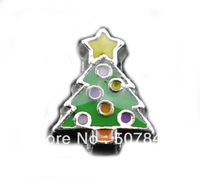 Christmas Tree Floating Charms compatible with most Floating Charm Lockets