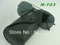 Wholesale - - Free shipping 1pcs/lot 2013 Hotest Sunglasses men sunglasses New Female men Aviator Sun Glasses +Box+Cloth