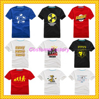 Free Shipping O-Neck Big Bang Sheldon Fashion Cotton Tshirt,0.6kg/pc