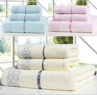 3 Pieces one Set 550g High Quality Promotion Wholesale bath towel  70*140 cm 100% cotton towel set