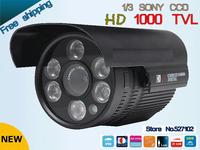 "Free shipping 2013 NEW 1/3"" SONY CCD HD 1000TVL Waterproof Outdoor security camera IR 100 meter CCTV Camera"