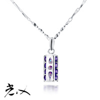 Light x accessories pure silver necklace female short design