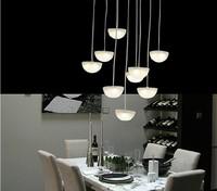 Brief modern pendant light acrylic fashion mushroom type led lighting lamps