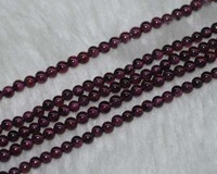 Natural 5strands 3mm Luster Purple Round Garnet Beads String 7615