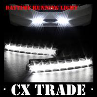 Free shipping New 20PCS/Lot Universal Car Light Super White 8 LED Daytime Running Light Auto Lamp DRL #8110