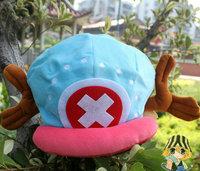 free shipping 10pcs/lot,japan anime one piece Tony Tony Chopper plush cotton cap hat EW-H-AP-006