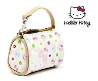 (10 Pcs/Llot) Lovely Super Mini Hello Kitty Travel Bags Style Leather Coin Bag Purses,Size 9*7*5 CM
