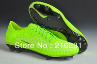 2014 men athletic shoes men's soccer boots HyperVenomr soccer shoes indoor soccer boots football shoes  light green size 39-45