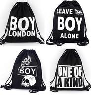 Bigbang tide boylondon beam pocket bag cotton canvas bag backpack draw string bag