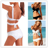 promotion beach bikini sexy bandage push up bandeau swimwear women 2014 swimsuit the bathing suit beachwear Freeshipping