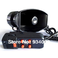 100W 5 sound style Car Electronic Warning Siren Alarm Police Firemen Ambulance Loudspeaker Speaker with MIC Free Shipping
