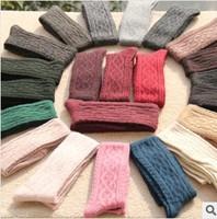 Free Shipping Retail Fashion Wool Thigh High Socks Warm Knee Women's Hose 13 Colors
