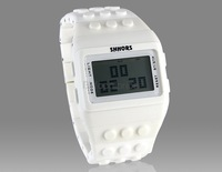 SHHORS Stylish Unisex LCD Screen Digital Watch (White) M.
