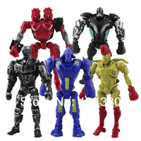 Free Shipping Cartoon Real Steel PVC Figure Model Doll Set Of 5 13cm Cute Version Collection For Christmas Gifts
