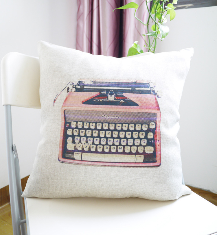 Old typewriter design restoring ancient ways pillows decorate for a sofa size 45 * 45 cm new 2014(China (Mainland))