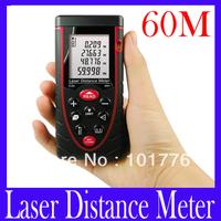Free shipping 60M hand held Precision Laser distance meter ,Digital Laser Distance Meter Measure 0.2 to 50m RZ60 ,5pcs/lot