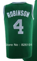 Free shipping #4 Robinson jersey, Embroidery logos men's cheap basketball jerseys,Top quality Sports Jersey.