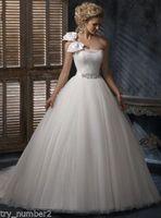 New Gown Wedding Dress white tulle custom 6-8-10-12-14-16-18-20-22 + + +