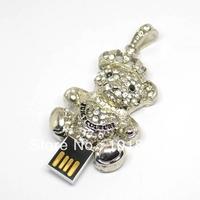 u disk flash disk  Diamond Bear 4gb 8gb 16gb 32gb jewelry usb flash drive jewelry usb memory pen driver gifts gadget
