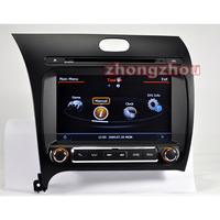 Free Shipping A8 Dual Core Kia Cerato K3 Forte 2013 GPS DVD Audio Player 1GB CPU 512M DDR V-20 3-ZONE RDS BT DVR 3G WIFI 1080P
